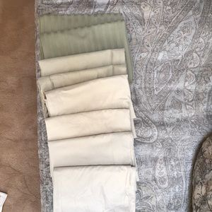 Other - Eight standard pillowcases in shades of tan